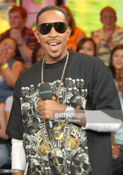 Ludacris during Ludacris and Reverend Run and Family Visit MTV's 'TRL' August 17 2006 at MTV Studios Times Square in New York City New York United...