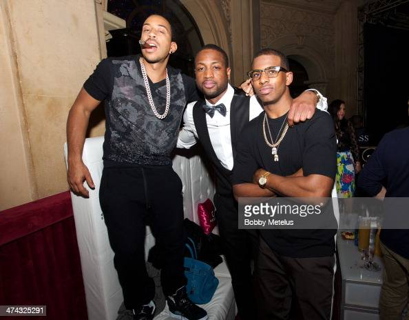 Ludacris Dwyane Wade and Chris Paul are seen during NBA AllStar Weekend 2014 at on February 14 2014 in New Orleans Louisiana