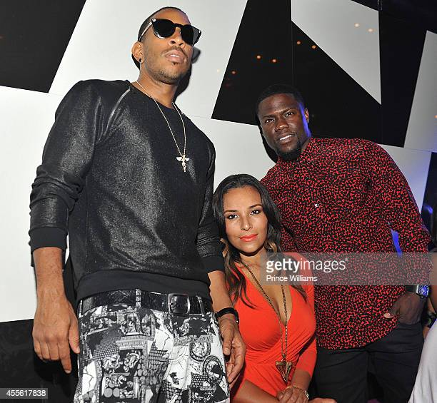 Ludacris Eudoxie Agnan and Kevin Hart attend Hollywood Hangover at Gold Room on September 1 2014 in Atlanta Georgia