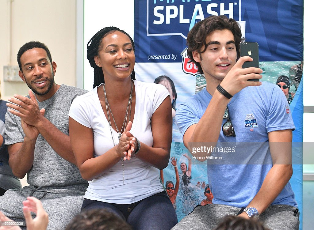 Ludacris, Keri Hilson and Blake Michael attend water safety and fitness at Carrie Steele Pitts Life Learning Center on April 30, 2016 in Atlanta, Georgia.