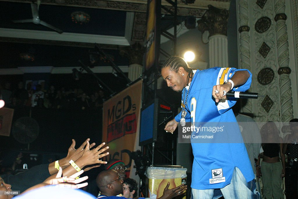 Ludacris performs as part of Miller Genuine Draft's 'Pure Night Out' promotion at the Metro October 20, 2003 in Chicago, Illinois.