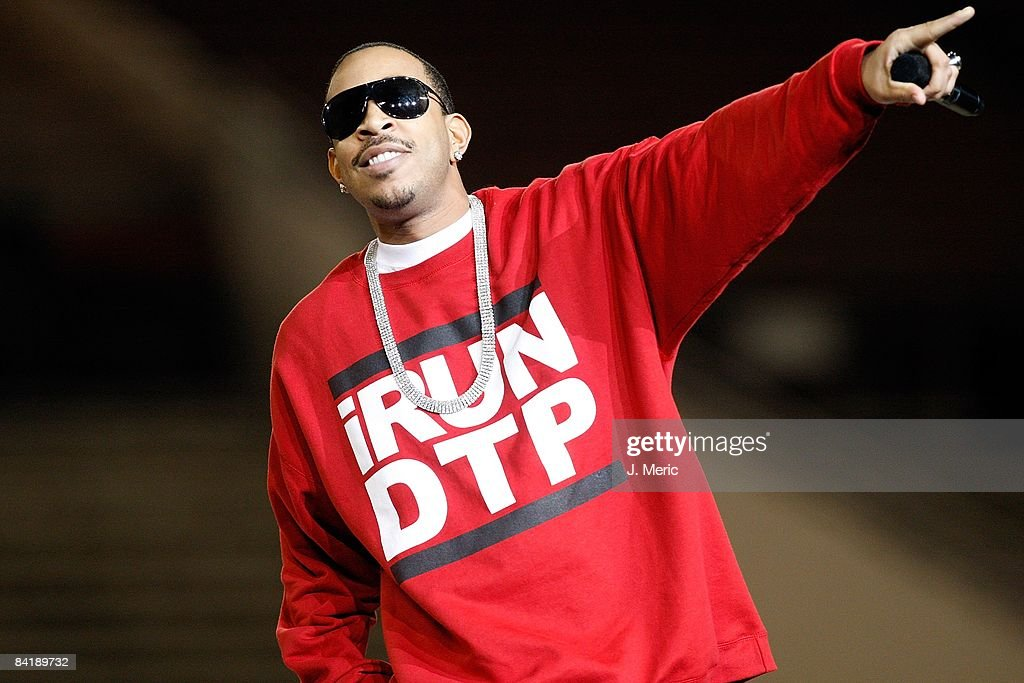 Ludacris performs at the half of the All America Under Armour Football Game at the Florida Citrus Bowl on January 4 2009 in Orlando Florida