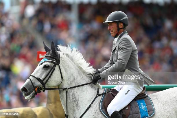Ludger BEERBAUM riding CHIARA 222 during the Rolex Grand Prix part of the Rolex Grand Slam of Show Jumping of the World Equestrian Festival on July...