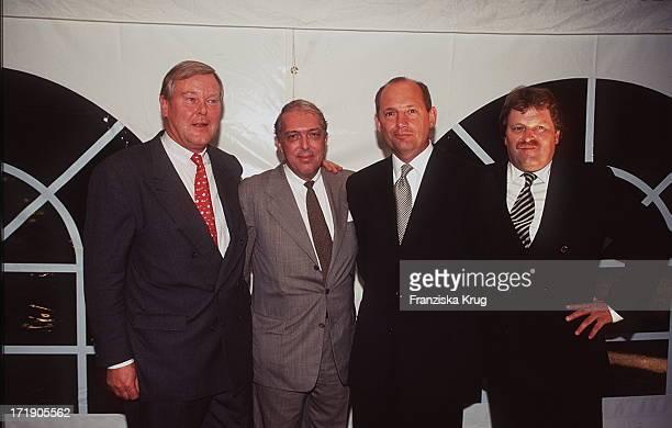 Ludger W Staby und Dieter Weng und Ron Dennis und Norbert Haug Bei 'Reemtsma Medientreff' In Hamburg 260896