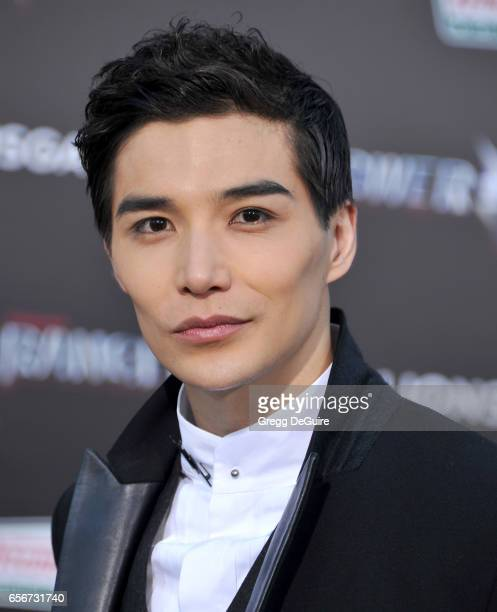 Ludi Lin arrives at the premiere of Lionsgate's 'Power Rangers' at The Village Theatre on March 22 2017 in Westwood California