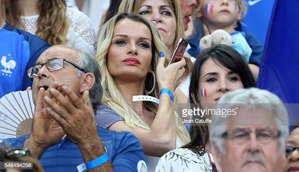 Ludivine Payet attends the UEFA Euro 2016 final between Portugal and France at Stade de France on July 10 2016 in SaintDenis near Paris France