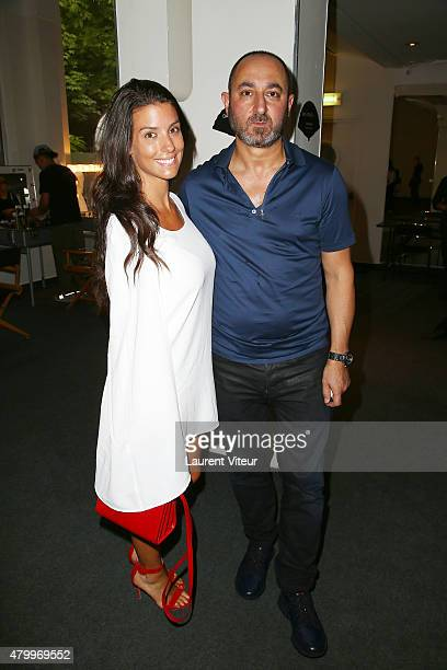 Ludivine Sagna and Designer Dany Atrache attend the Danny Atrache show as part of Paris Fashion Week Haute Couture Fall/Winter 2015/2016 on July 8...