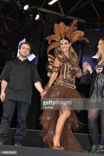 Ludivine Sagna and stylists attend the 'Salon Du Chocolat Chocolate Fair 20th Anniversary' At the Parc des Expositions Porte de Versailles on October...