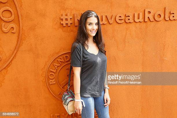 Ludivine Sagna attends the French Tennis Open Day 6 at Roland Garros on May 27 2016 in Paris France