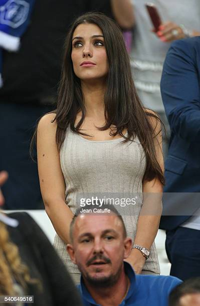 Ludivine Sagna wife of Bacary Sagna attends the UEFA EURO 2016 Group A match between France and Albania at Stade Velodrome on June 15 2016 in...