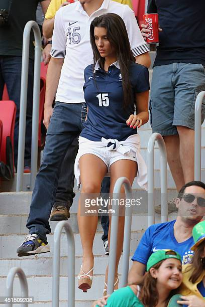 Ludivine Sagna wife of Bacary Sagna of France attends the 2014 FIFA World Cup Brazil Round of 16 match between France and Nigeria at Estadio Nacional...