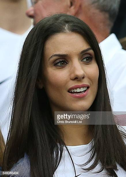 Ludivine Sagna wife of Bacary Sagna of France looks on during the UEFA Euro 2016 Final match between Portugal and France at Stade de France on July...