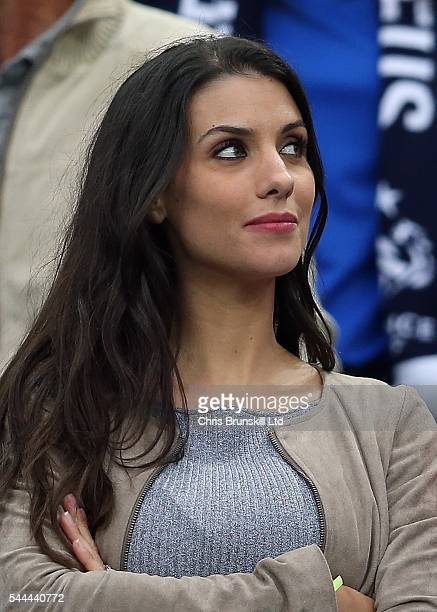 Ludivine Sagna wife of Bacary Sagnaof France looks on during the UEFA Euro 2016 Quarter Final match between France and Iceland at Stade de France on...
