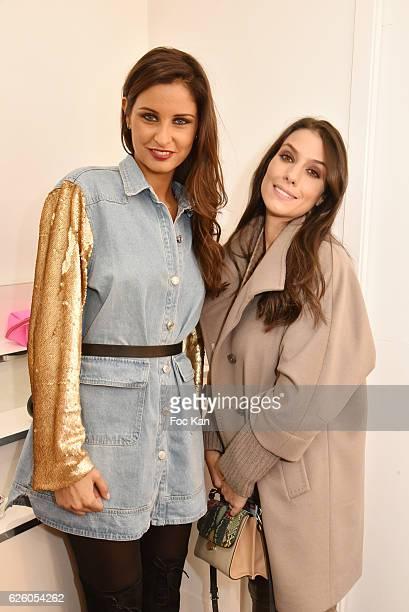 Ludivine Sagna wife of footballer Bacary Sagna and Miss France 2010 Malika Menard attend LA Girl Paris Cosmetics Launch and Fahaid Sanober 8TH...