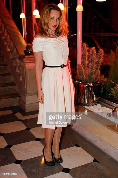 Ludivine Sagner attend the Fashion Dinner for AIDS at the Pavillon d'Armenonville on January 28 2010 in Paris France