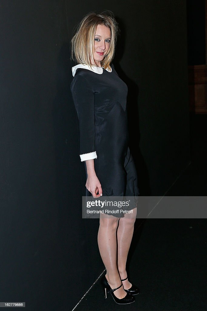 <a gi-track='captionPersonalityLinkClicked' href=/galleries/search?phrase=Ludivine+Sagnier&family=editorial&specificpeople=211356 ng-click='$event.stopPropagation()'>Ludivine Sagnier</a> arrives to the Etam Live Show Lingerie at Bourse du Commerce on February 26, 2013 in Paris, France.