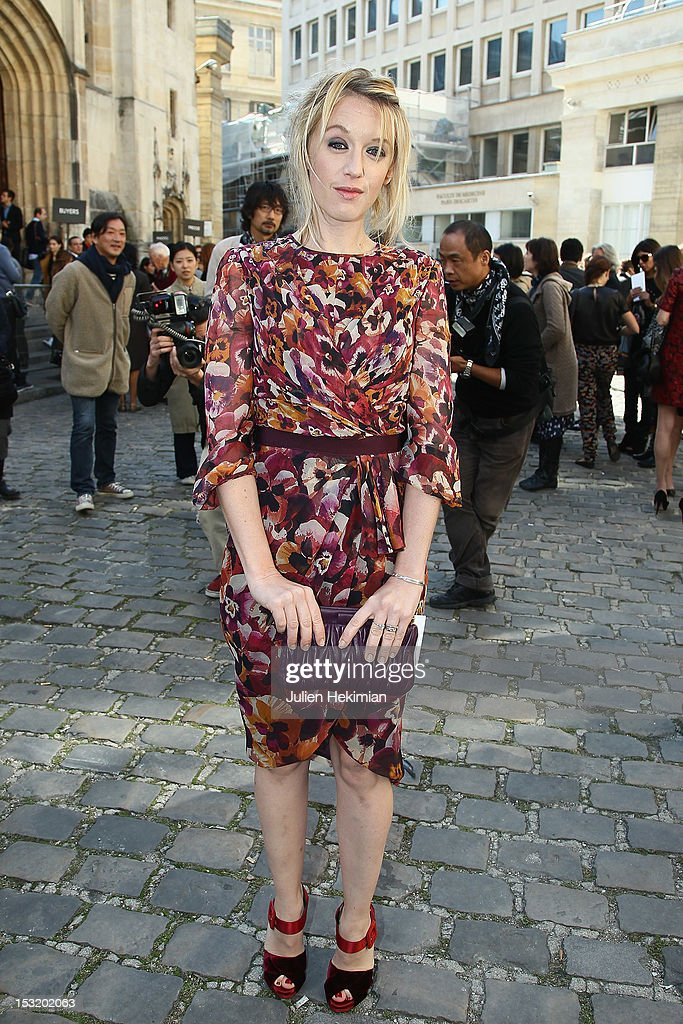 Ludivine Sagnier attends the Giambattista Valli Spring / Summer 2013 show as part of Paris Fashion Week on October 1, 2012 in Paris, France.