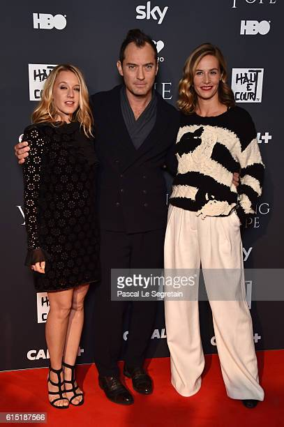 Ludivine Sagnier Jude Law and Cecile de France attend 'The Young Pope' Paris Premiere at la cinematheque on October 17 2016 in Paris France