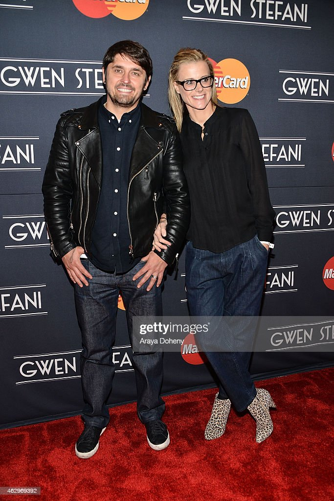 Ludo Lefebvre and Kristine Lefebvre attend the MasterCard Priceless Surprises presents Gwen Stefani at Orpheum Theatre on February 7, 2015 in Los Angeles, California.