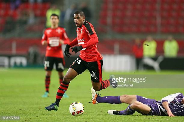 Ludovic Baal of Rennes during the French Ligue 1 match between Rennes and Toulouse at Roazhon Park on November 25 2016 in Rennes France