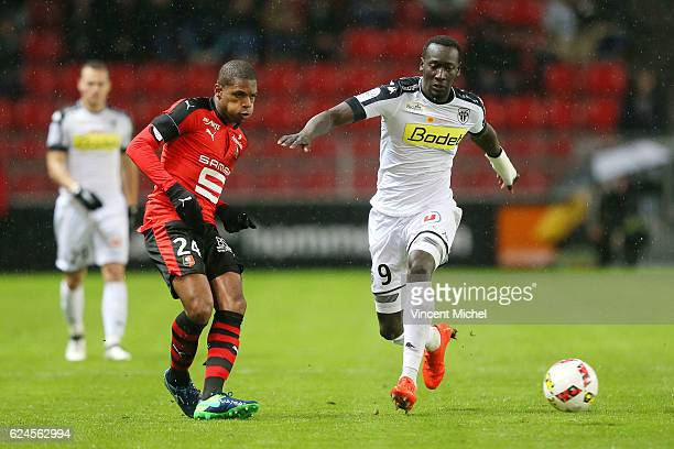 Ludovic Baal of Rennes during the Ligue 1 match between Stade Rennais and Sco Angers at Stade de la Route de Lorient on November 19 2016 in Rennes...
