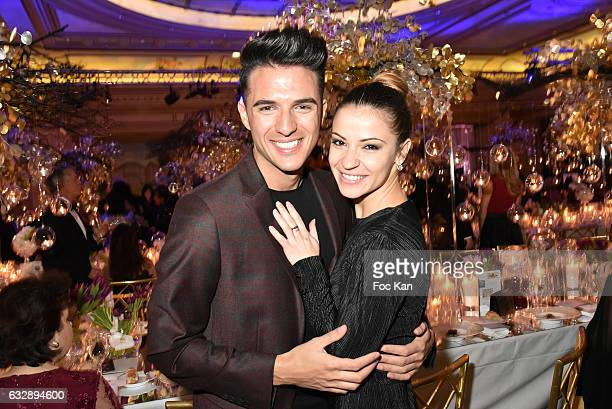 Ludovic BaronDenitsa Ikonomova attend 'The Best Award Gala 40th Edition' at Four Seasons George V Hotel on January 27 2017 in Paris France