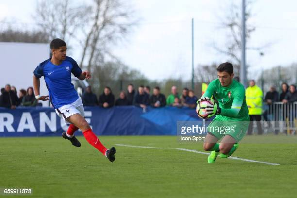 Ludovic Blas of France and Pedro Silva of Portugal during the 4 Nations Tournament U20 match between France and Portugal on March 28 2017 in...