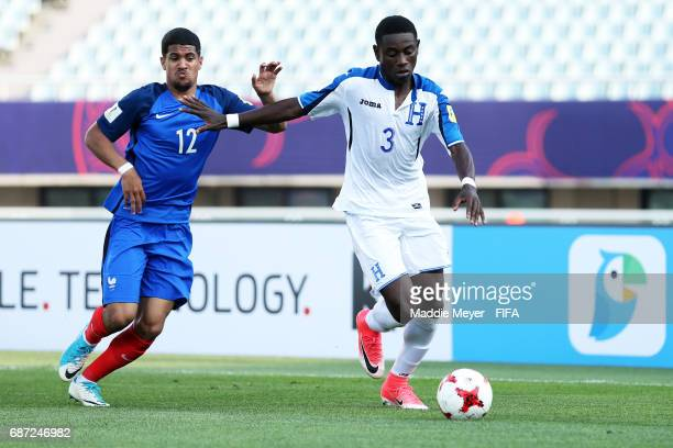 Ludovic Blas of France and Wesly Decas of Honduras battle for control of the ball during the FIFA U20 World Cup Korea Republic 2017 group E match...