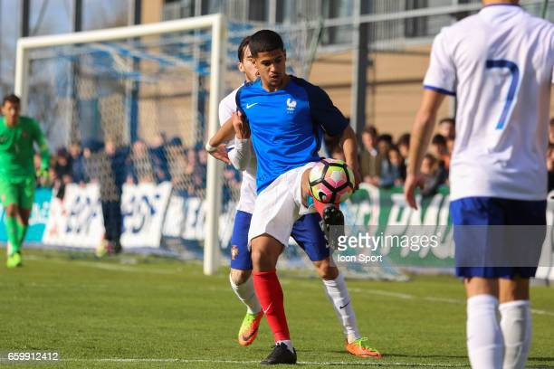 Ludovic Blas of France during the 4 Nations Tournament U20 match between France and Portugal on March 28 2017 in Ploufragan France