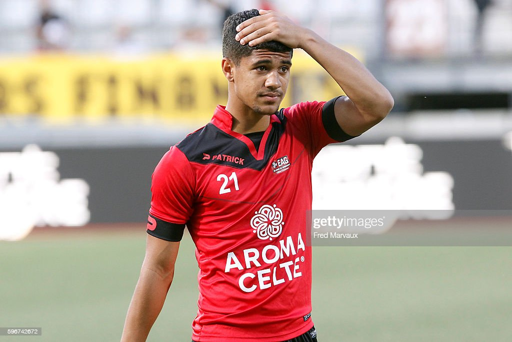 Ludovic Blas of Guingamp during the French Ligue 1 between Nancy and Guingamp at Stade Marcel Picot on August 27 2016 in Nancy France