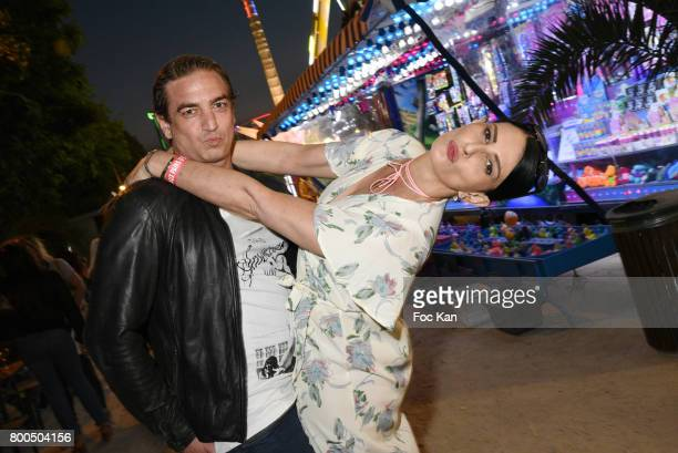 Ludovic Chancel and Sylvie Ortega Munos attend La Fete des Tuileries on June 23 2017 in Paris France