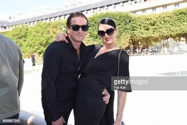 Ludovic Chancel and Sylvie Ortega Munos attend Petit Bateau Couture Haute Couture Fall and Winter 20172018 show as part of Haute Couture Paris...
