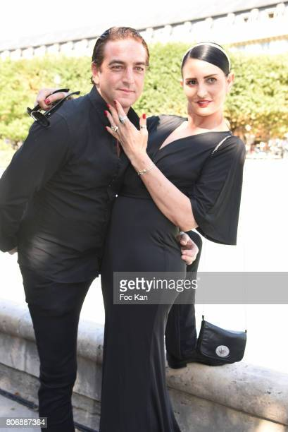 Ludovic Chancel and Sylvie Ortega Munos attend Petit Bateau Couture Haute Couture Fall and Winter 20172018 show as part of Haute Couture Paris...