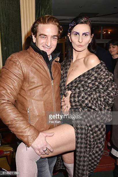Ludovic Chancel and Sylvie Ortega Munos attend the Ilgin Utin show as part of the Paris Fashion Week Womenswear Fall/Winter 2016/2017 on March 5 2016...