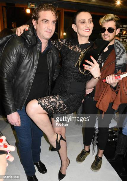 Ludovic Chancel and Sylvie Ortega Munos attend the 'Partie de Rien D'Une Poignee D'Or' By les Diamants de L Orient Fashion Show at Hapsatou Sy Show...