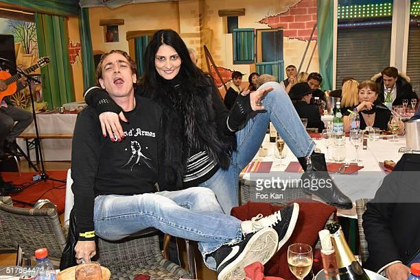 Ludovic Chancel and Sylvie Ortega MunosÊattend La Foire du Trone Launch Party at Pelouse de Reuilly on March 25 2016 in Paris France
