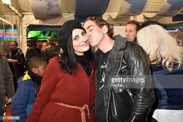 Ludovic Chancel and Sylvie Ortega MunosÊattend La Foire du Trone Launch Party at Pelouse de Reuilly on March 25 2016 in Paris France