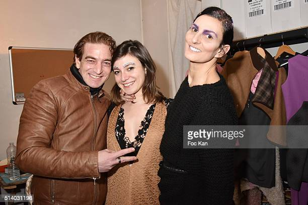 Ludovic Chancel fashion designer Ilgin Utin and Sylvie Ortega Munos attend the Ilgin Utin show as part of the Paris Fashion Week Womenswear...