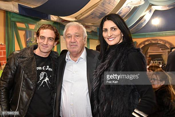 Ludovic Chancel Marcel Campion and Sylvie Ortega Munos attend La Foire du Trone Launch Party at Pelouse de Reuilly on March 25 2016 in Paris France