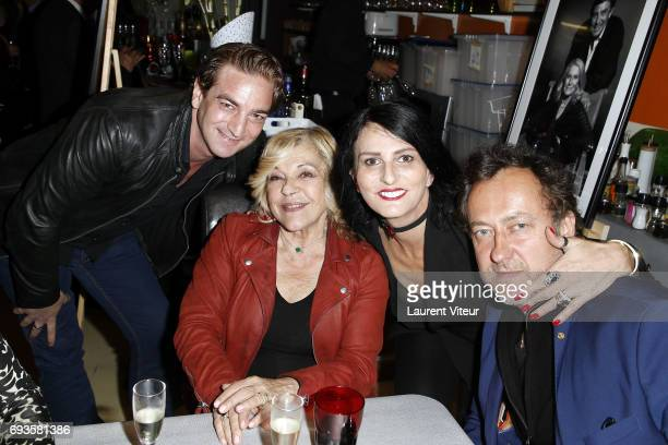 Ludovic Chancel Nicoletta Sylvie Ortega Munos and JeanChristophe Molinier attend Photographer Olivier Palade Exhibition at La Chope des Puces on June...