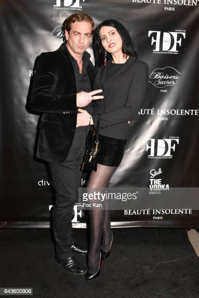 Ludovic ChancelÊand Sylvie Ortega Munos attend the FDF Magazine Launch Party at Hotel Christian Dior on February 21 2017 in Paris France