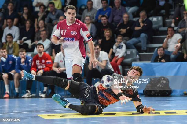 Ludovic Fabregas of Montpellier during the handball Champions League match between Montpellier and Zaporozhye on March 11 2017 in Montpellier France