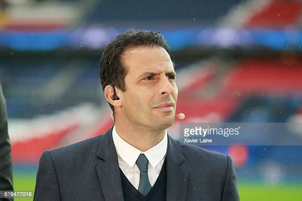 Ludovic Giuly attends the UEFA Champions League Quarter Final between Paris SaintGermain and Manchester City FC at Parc Des Princes on April 6 2016...