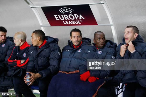 Ludovic GIULY / Claude MAKELELE sur le banc PSG / Dortmund Ligue Europa 2010/2011