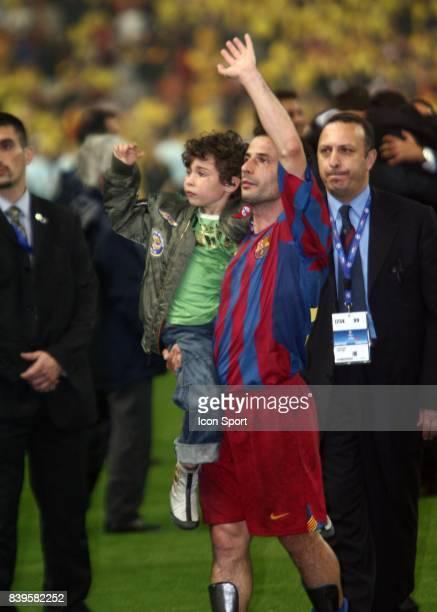 Ludovic GIULY et son fils Fc Barcelone / Arsenal Finale de la Ligue des Champions Stade de France Paris
