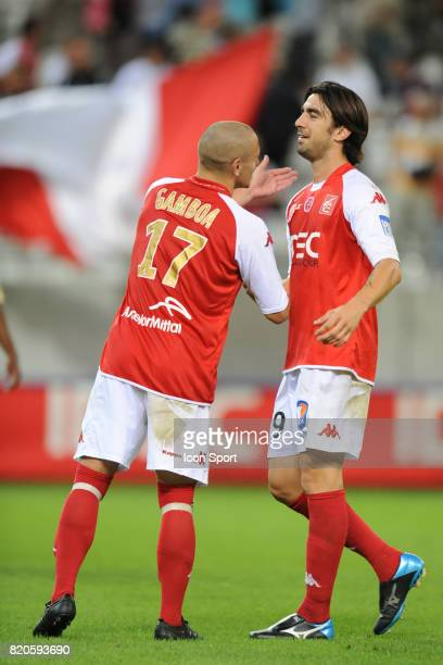 Ludovic GOMBOA / Cedric FAURE Reims / Troyes 4eme journee de Natioanl Stade Auguste Delaune Reims