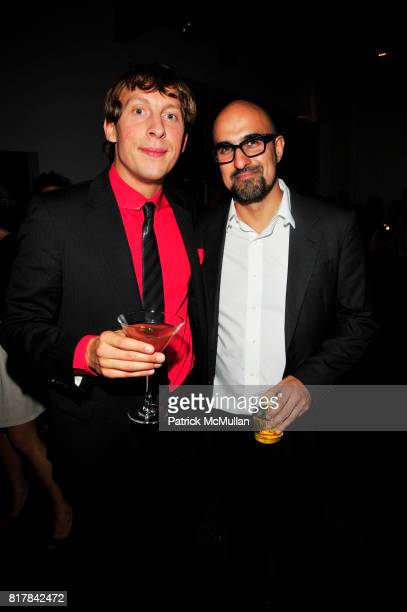 Ludovic Miaega and Hari Kunzru attend Young Lions of the New York Public Library and Benedictine Secret Society toast ALCHEMISTS of our age at...