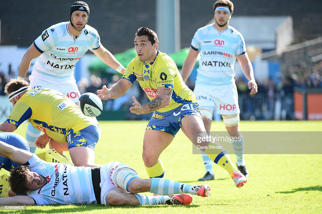 Ludovic Radosavljevic of Clermont during the French Top 14 rugby union match between Racing 92 v Clermont at Stade Yves Du Manoir on May 1, 2016 in Colombes, France.