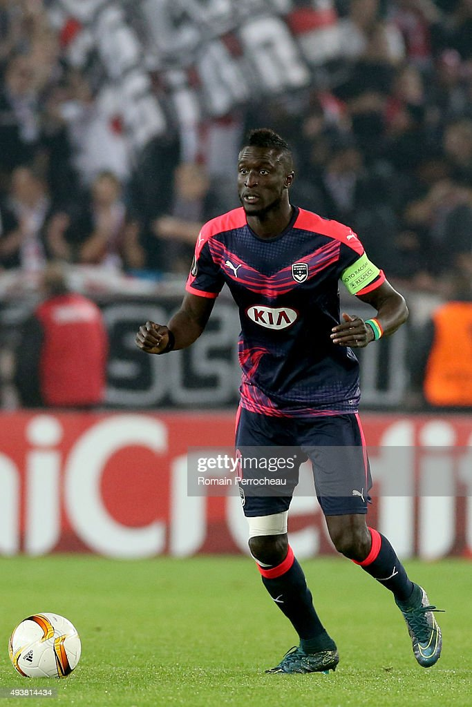Ludovic Sane for FC Girondins de Bordeaux in action during the Europa League game between FC Girondins de Bordeaux and FC Sion at Matmut Atlantique Stadium on October 22, 2015 in Bordeaux, France.