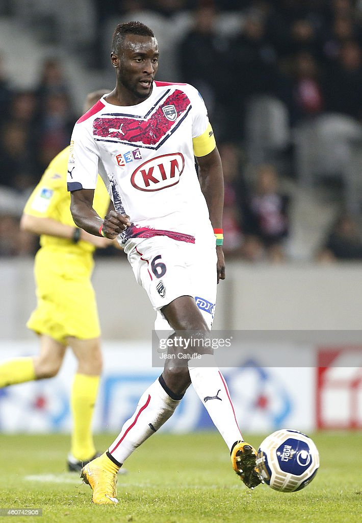 Ludovic Sane of Bordeaux in action during the French League Cup (Coupe de la ligue) match between Lille OSC and Girondins de Bordeaux at Grand Stade Pierre Mauroy stadium on December 17, 2014 in Lille, France.
